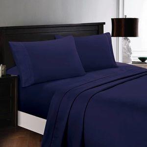 ⭐️SALE⭐️Queen 4pc Navy Bedsheets